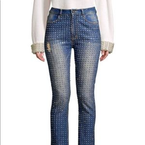 BRAND NEW Alice and Olivia Crystal Jeans